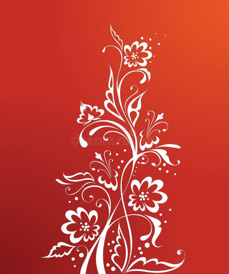 czerwony kwiecista royalty ilustracja