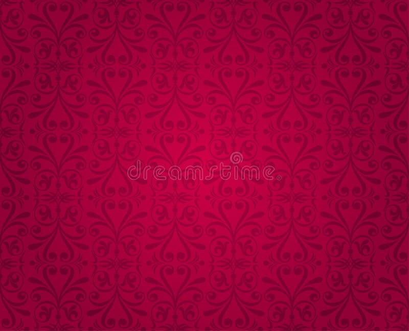 Czerwony kwiecisty deseniowy tapetowy projekta t?o zdjęcia royalty free