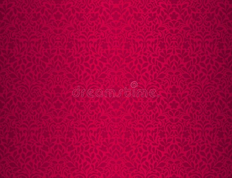 Czerwony kwiecisty deseniowy tapetowy projekta t?o fotografia royalty free