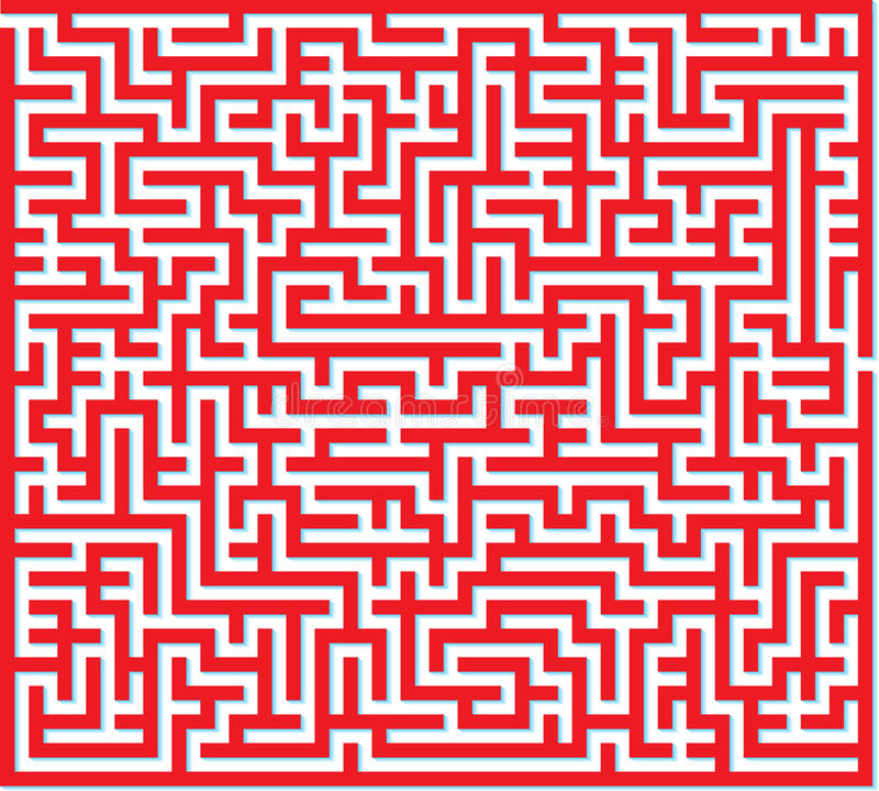 Czerwony labirynt zdjęcie royalty free