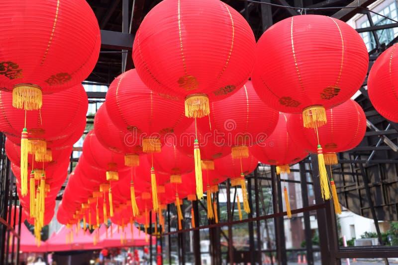 Czerwony lampion świętowanie obraz royalty free