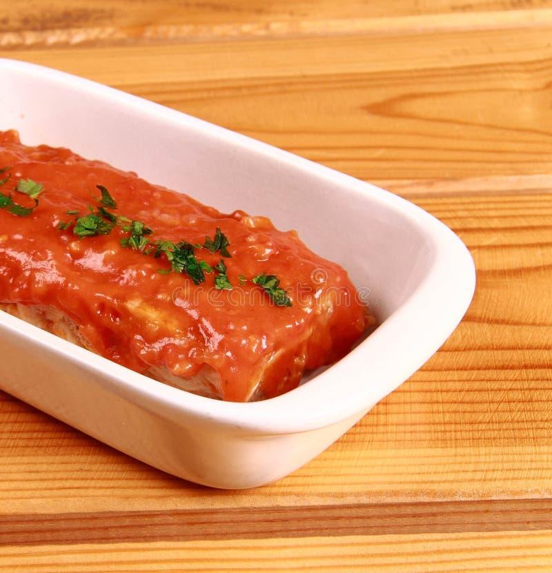 Czerwony Lasagna zdjęcia royalty free