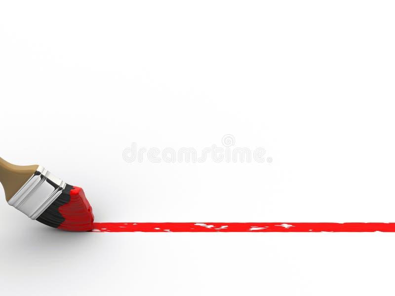 czerwony linii