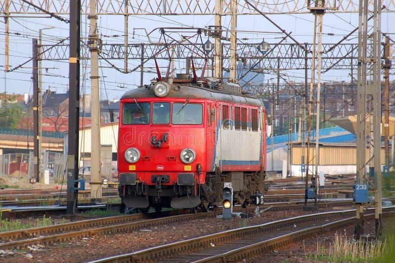 czerwony lokomotoryczna fotografia stock
