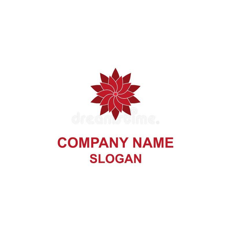 Czerwony Lotosowego kwiatu logo royalty ilustracja