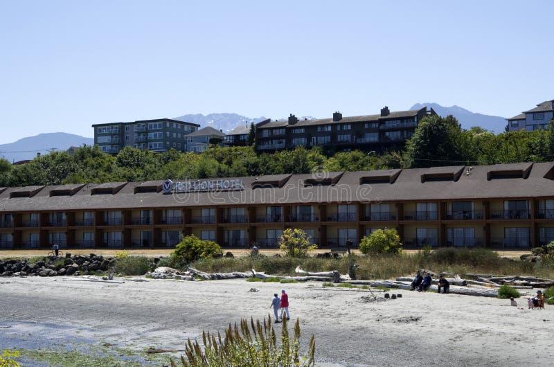 Czerwony lwa hotelu port Angeles obraz royalty free