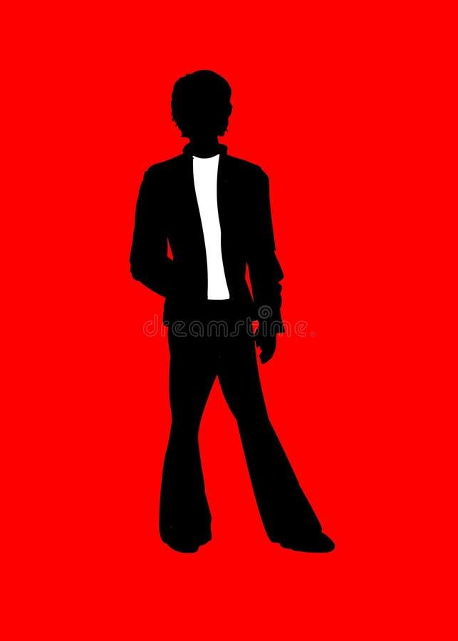 czerwony mężczyzna ilustracja wektor
