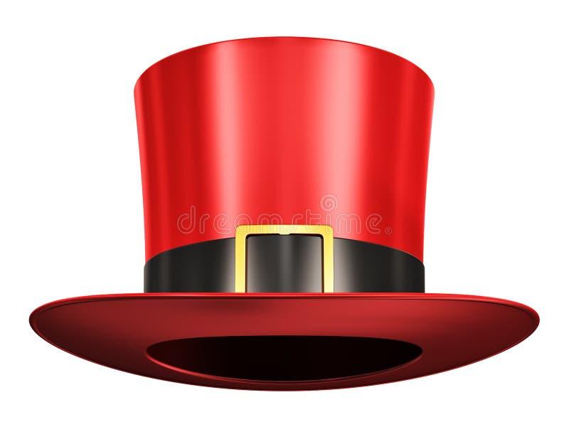 Czerwony magiczny kapelusz royalty ilustracja