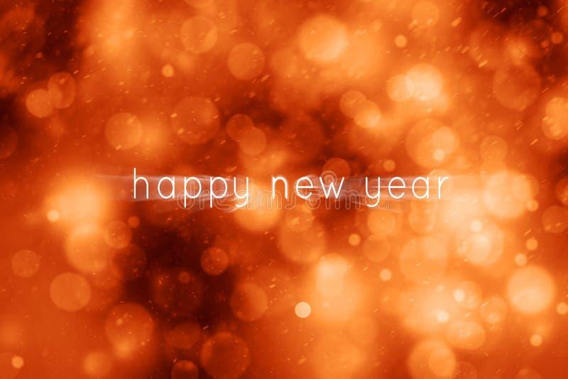Czerwony magiczny ruch zamazywał szczęśliwego nowego roku abstrakta tło fotografia royalty free