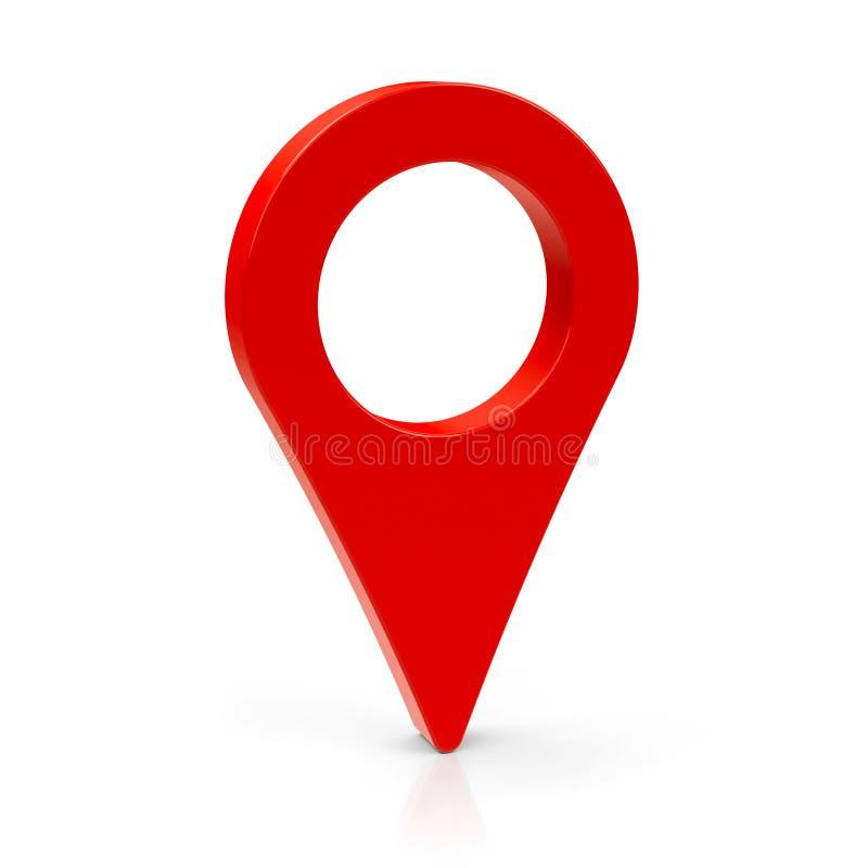 Czerwony mapa pointer 3 royalty ilustracja
