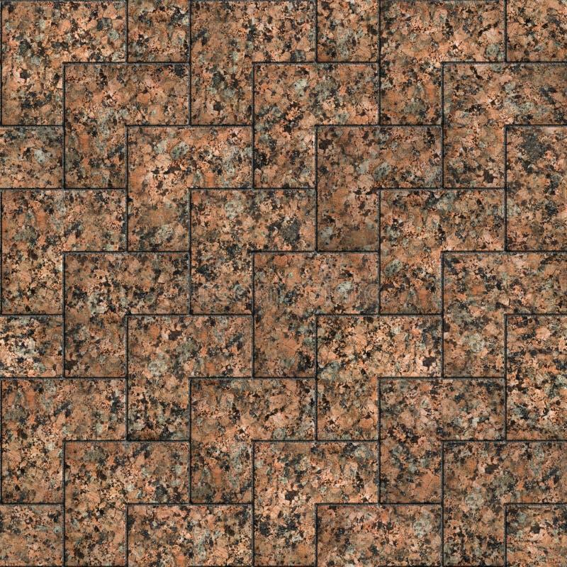 Czerwony marmur lub Granit Bezproblemowa tekstura z możliwością układania w kafelki zdjęcie stock