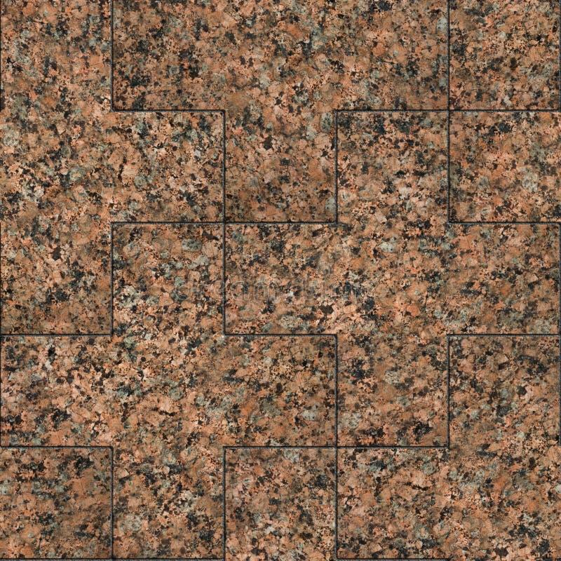 Czerwony marmur lub Granit Bezproblemowa tekstura z możliwością układania w kafelki zdjęcia stock
