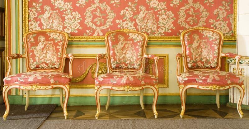 czerwony meblarski wiktoriańskie zdjęcia royalty free