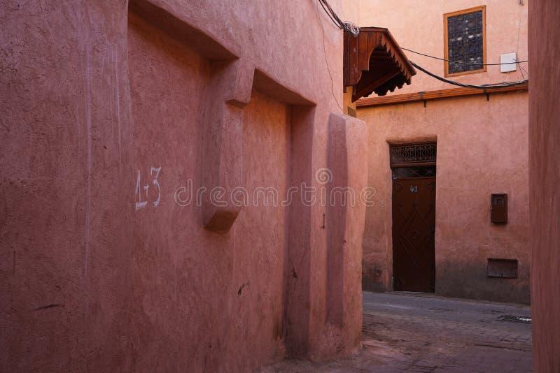 Czerwony Medina Marrakech, Maroko fotografia royalty free