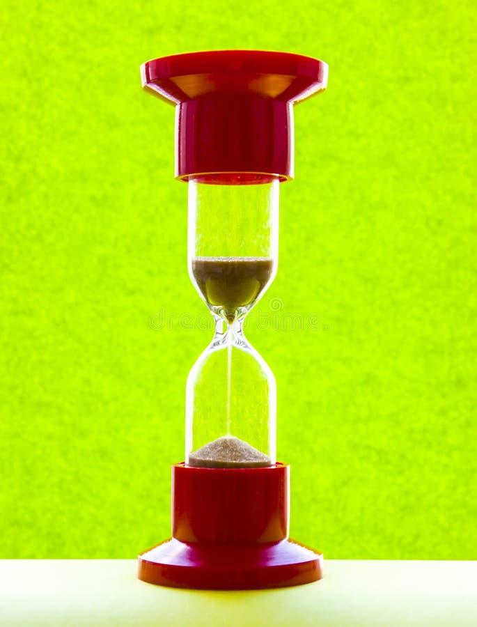 Czerwony medyczny hourglass Zako?czenie Naturalny wizerunek zdjęcia royalty free