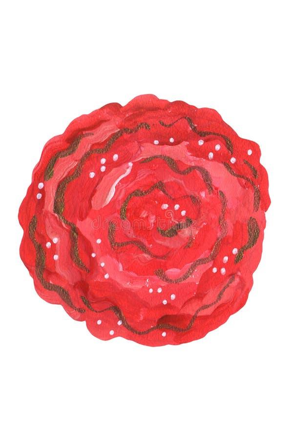 Czerwony Meksyka?ski kwiatu guasz royalty ilustracja
