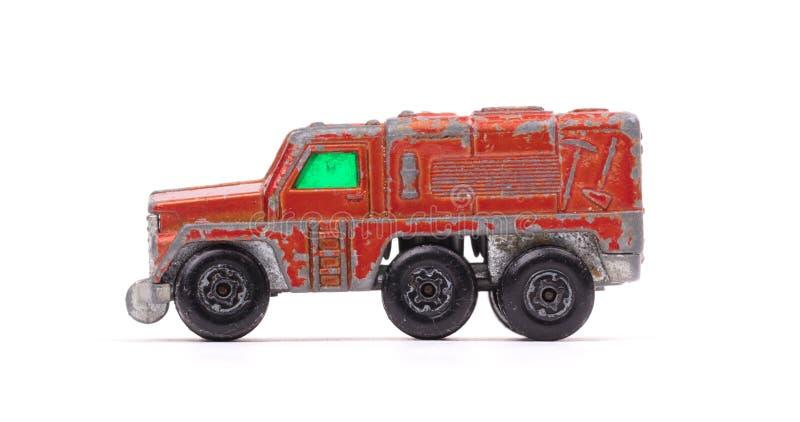 czerwony metal zabawki samochód obraz royalty free