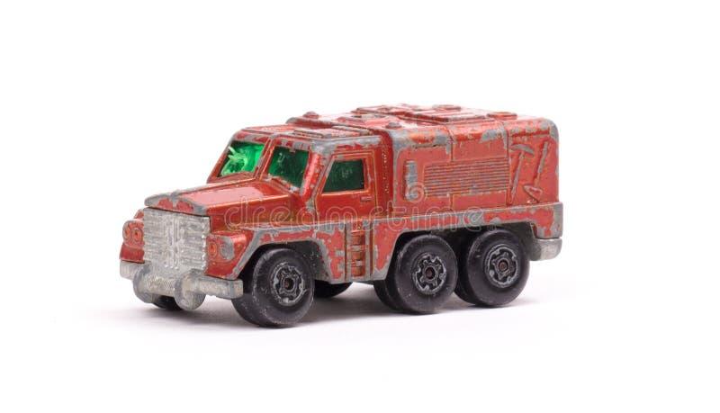 czerwony metal zabawki samochód obrazy stock
