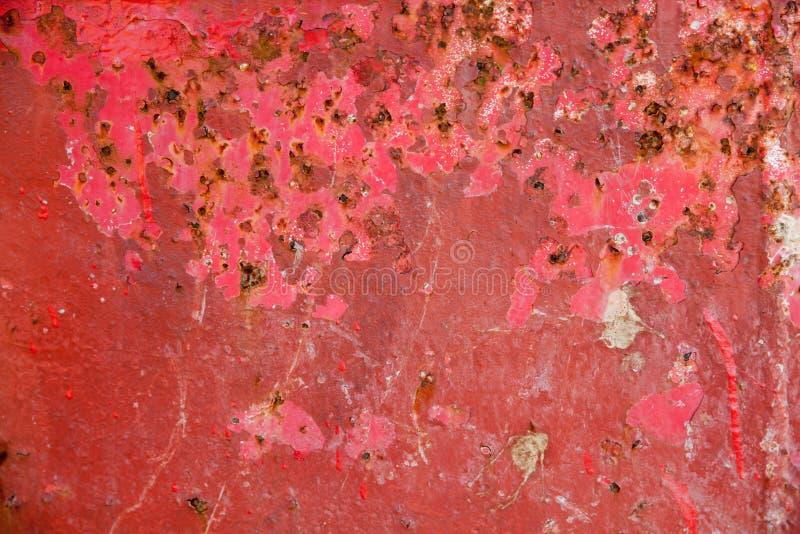 Czerwony metalu grunge tło obraz stock