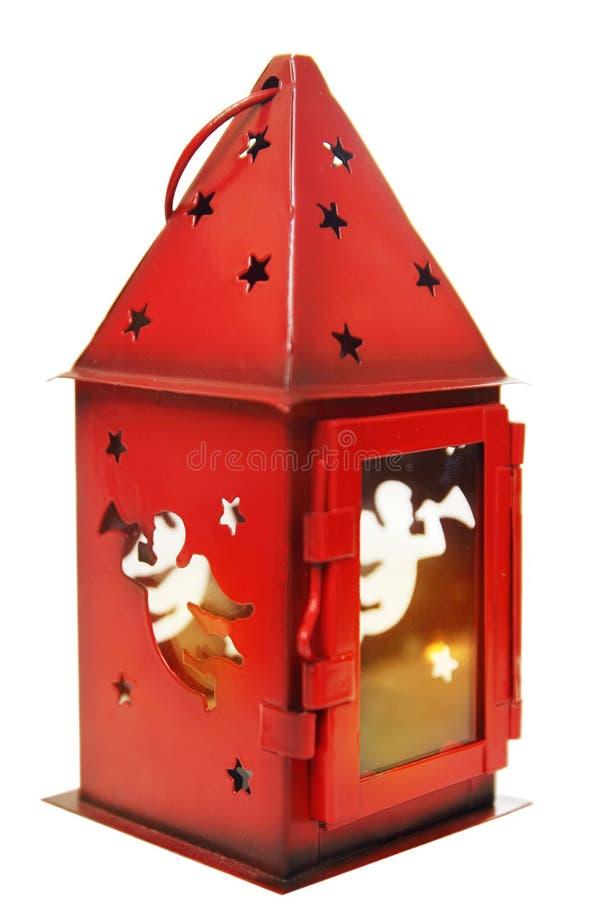Czerwony świeczka właściciel obraz royalty free