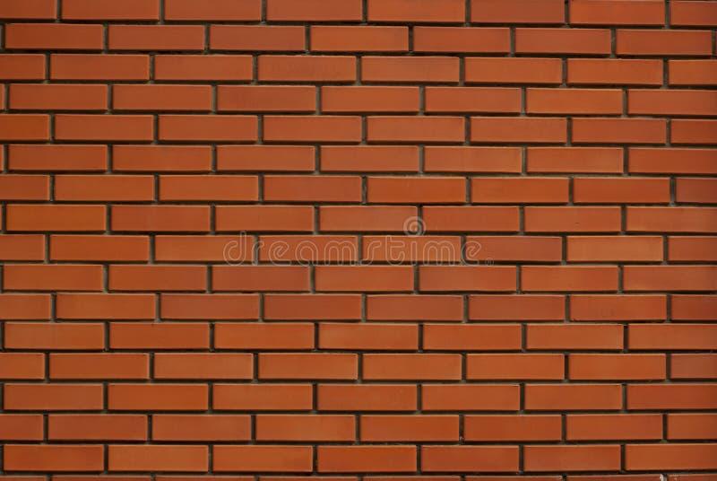 Czerwony monochromatyczny ściany z cegieł tekstury tło fotografia royalty free