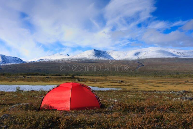 Czerwony namiot zdjęcie stock