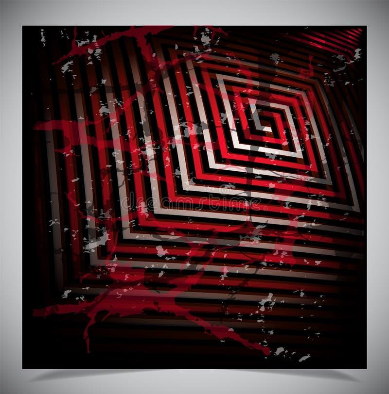 Czerwony narysu grunge tło zdjęcie stock