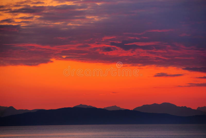 czerwony niebo zdjęcia stock