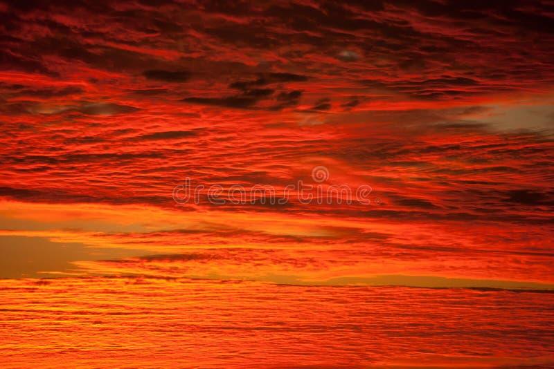 czerwony niebo zdjęcia royalty free