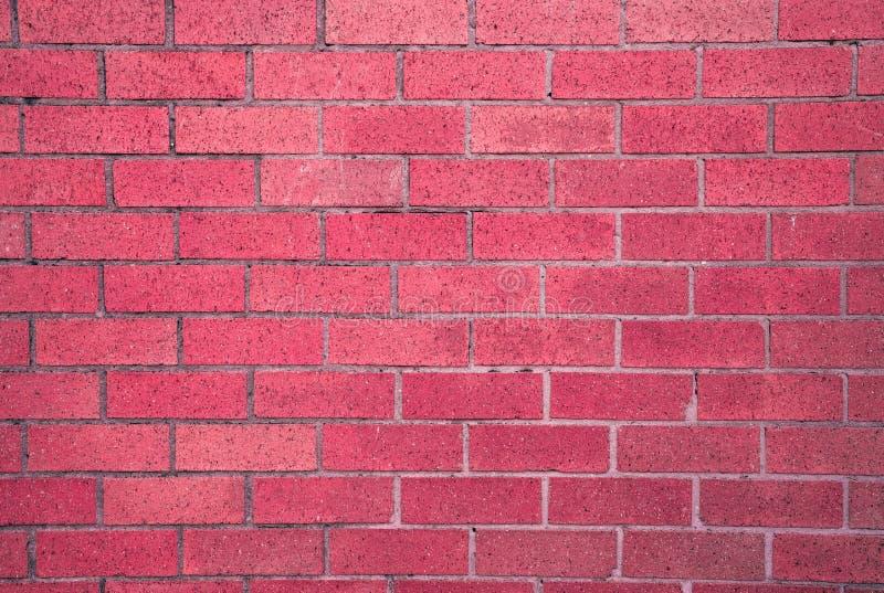 Czerwony nieociosany rocznik cegły bloku tekstury tło obraz stock