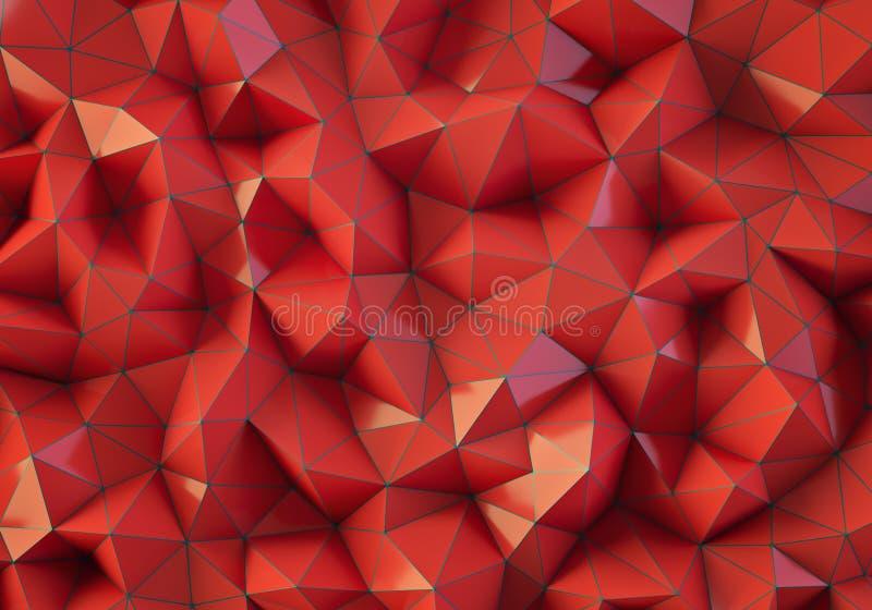 Czerwony niski poli- tło fotografia stock