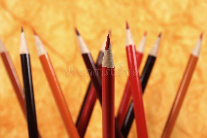 Download Czerwony ołówkowa obraz stock. Obraz złożonej z pomarańcze - 37621