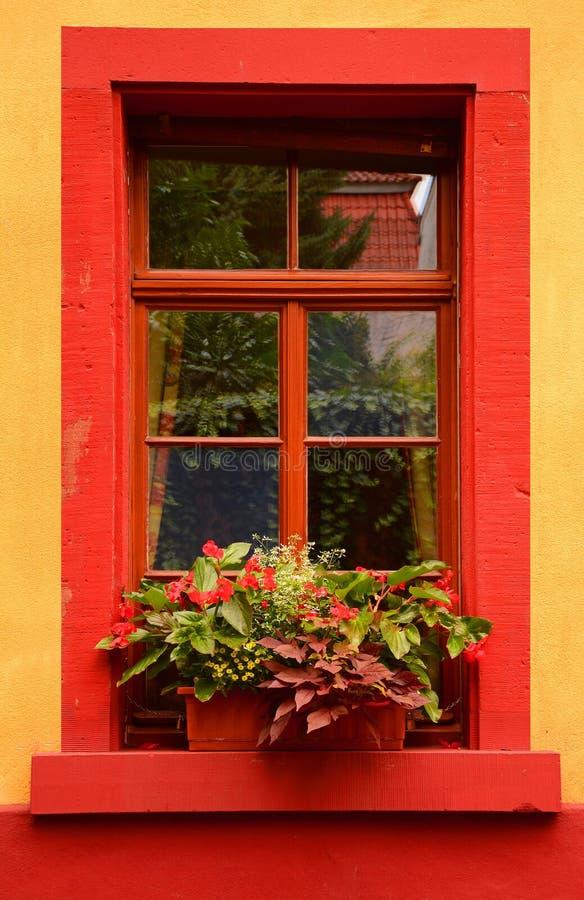 Czerwony okno zdjęcia stock