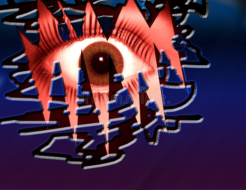 czerwony oko strach royalty ilustracja