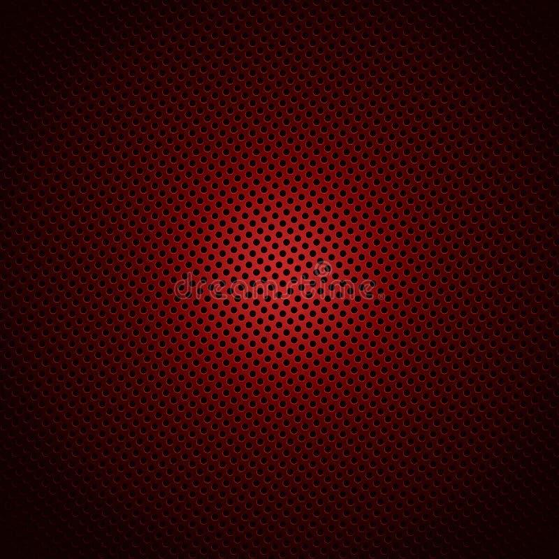 Czerwony okręgu wzór obrazy stock