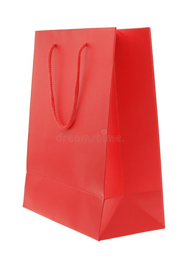 czerwony papierowej torby obrazy stock