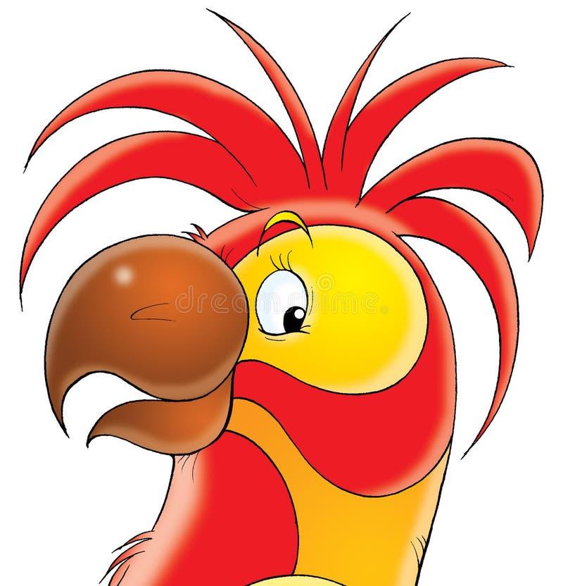 czerwony papuzia ilustracji