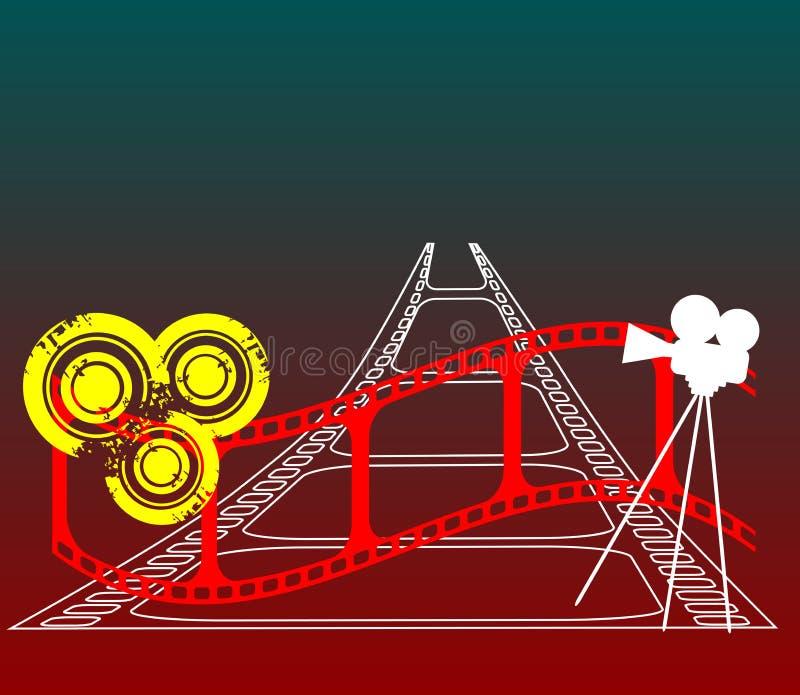 czerwony pasek filmu ilustracji