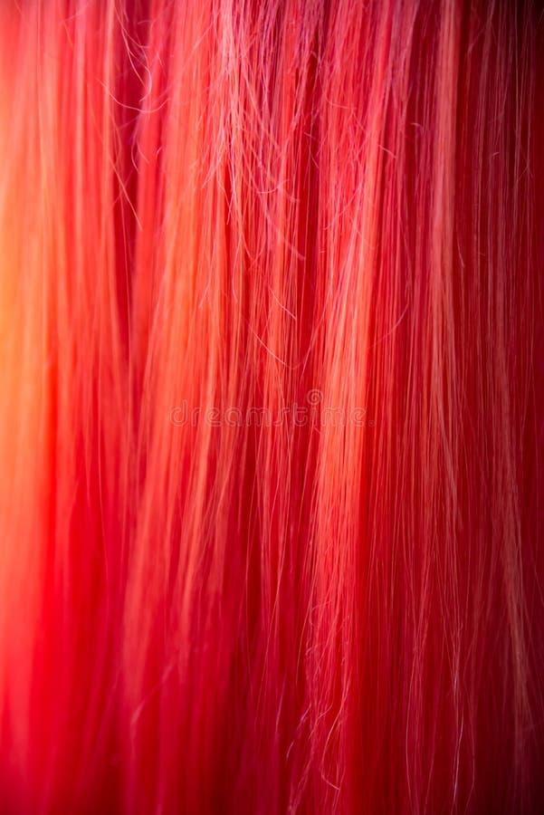 Czerwony peruki tekstury t?o Imbirowy w?osiany t?o zdjęcie stock