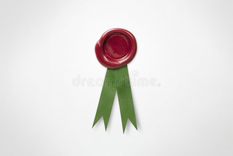 czerwony pieczęć wosk zdjęcia stock