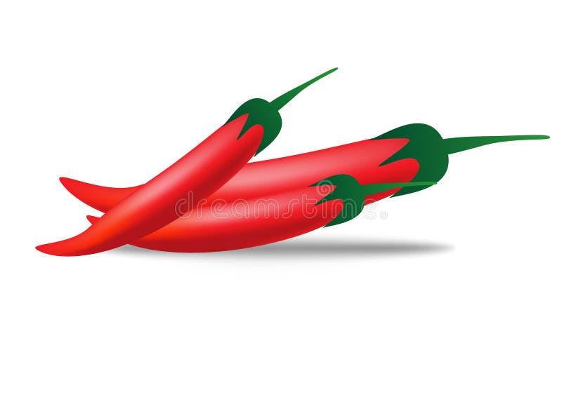 czerwony pieprzowa ilustracji