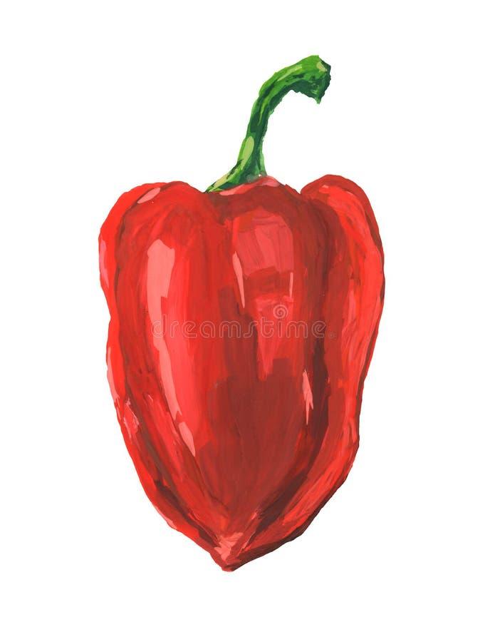 czerwony pieprzowa royalty ilustracja