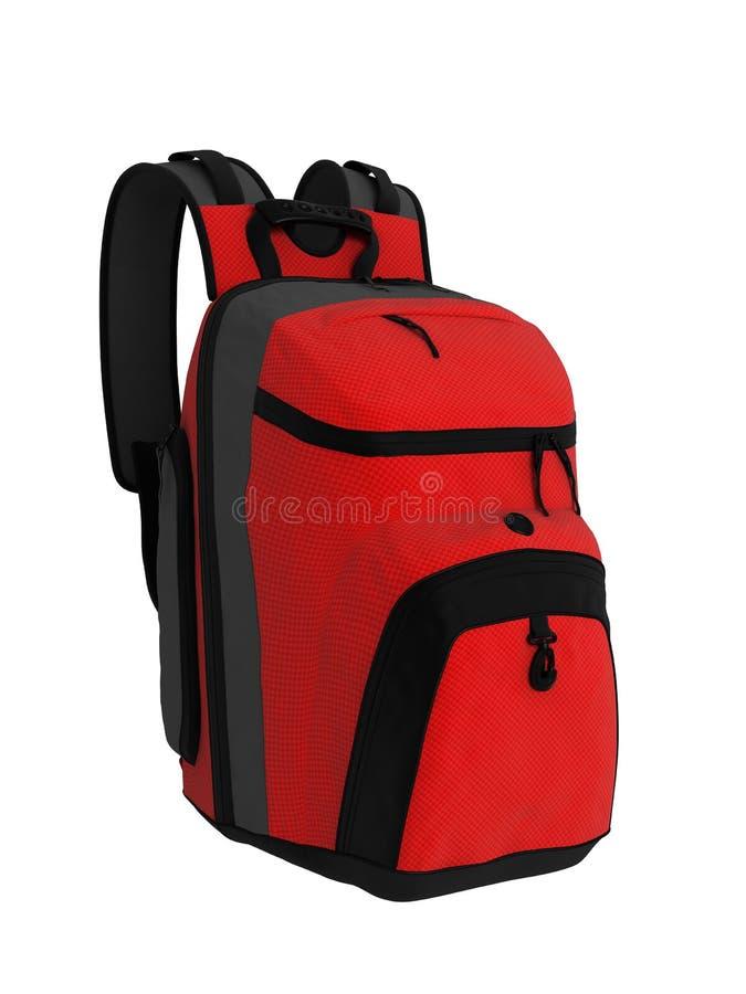 Czerwony plecak fotografia royalty free