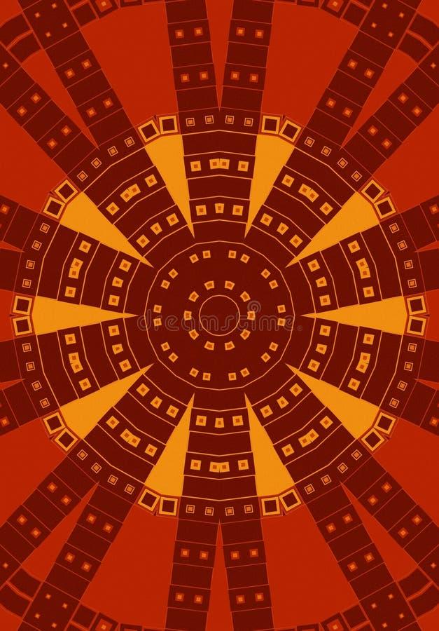 czerwony plemienne okręgu wzoru royalty ilustracja