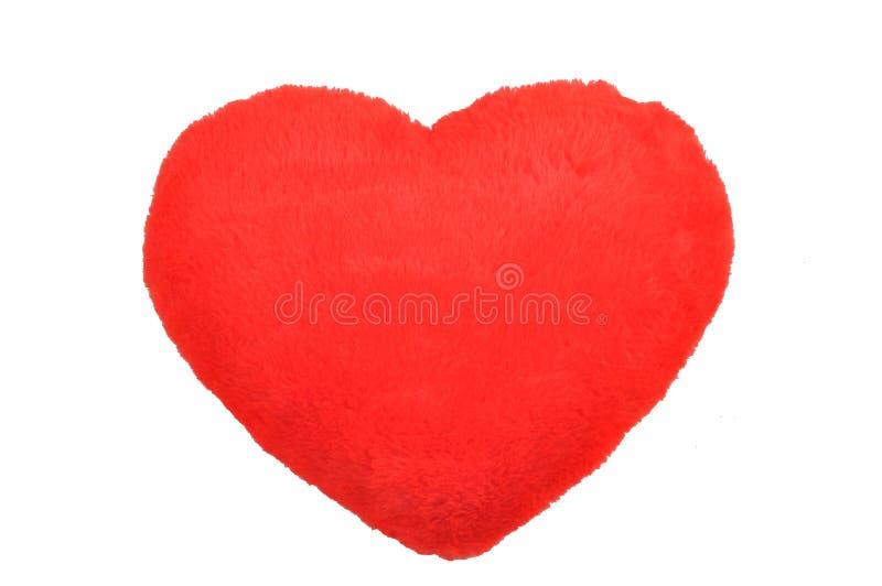 Download Czerwony pluszowy serce zdjęcie stock. Obraz złożonej z poduszka - 28960758