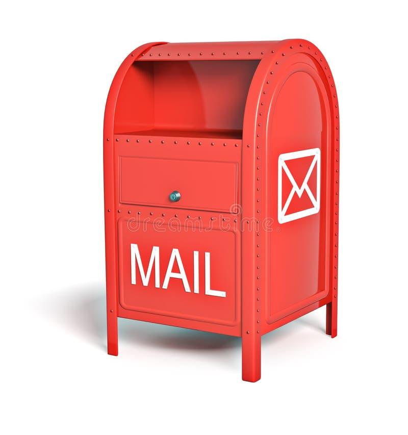 Czerwony poczta pudełko royalty ilustracja