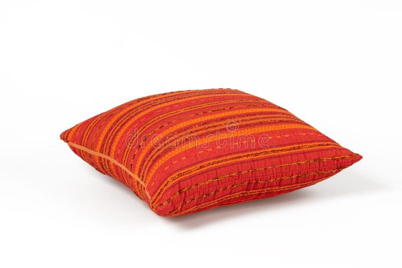 czerwony poduszka biel obraz stock