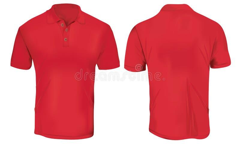 Czerwony polo koszula szablon ilustracji