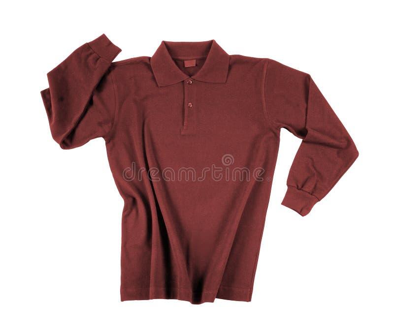Czerwony polo, menswear fotografia royalty free