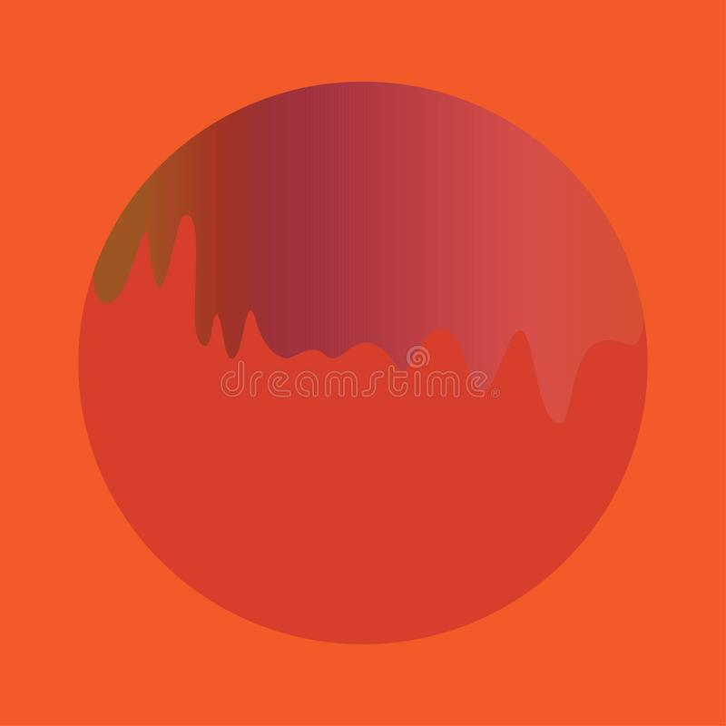Czerwony Pomarańczowy Rzadkopłynny kształt ilustracja wektor